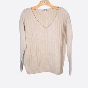 Gap V-neck Pullover Sweater Women's Beige